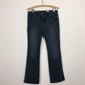 Micheal Kors wide leg dark denim jeans size 4